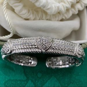 Judith Ripka heart cz cuff bangle